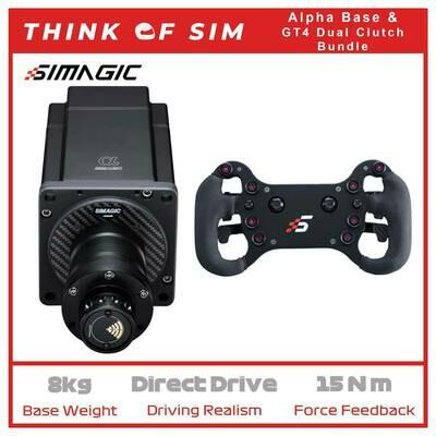 Simagic Alpha Flagship Sim Racing Direct Drive With GT4 Dual Paddle
