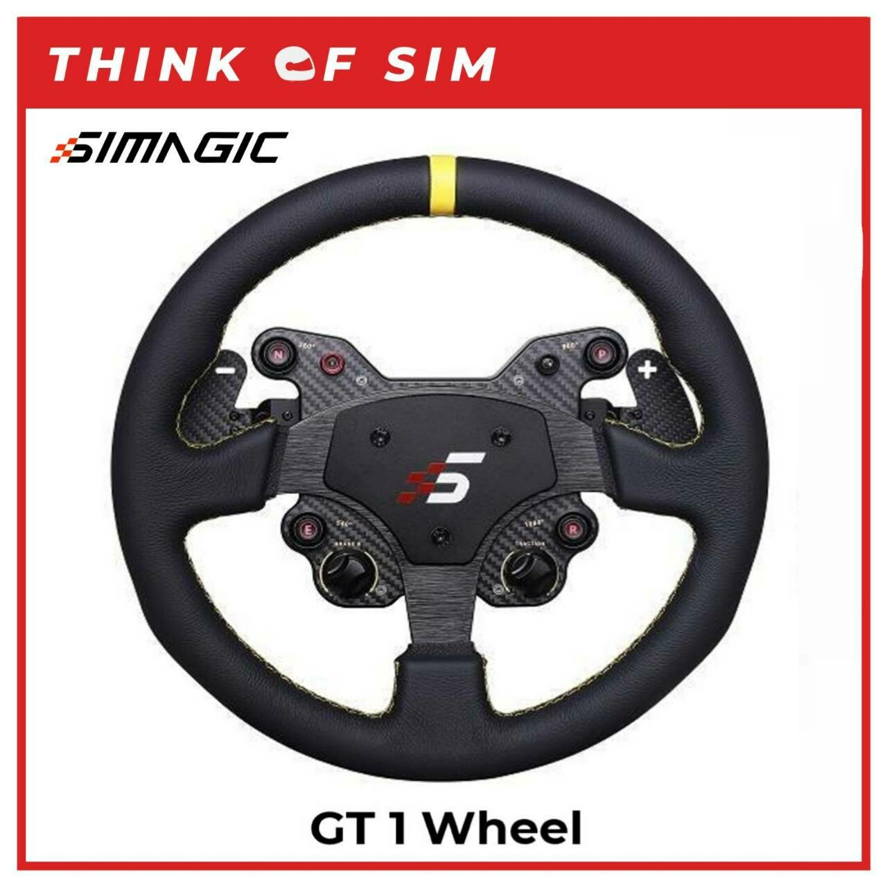 Simagic GT1 Round Wheel with Quick Release