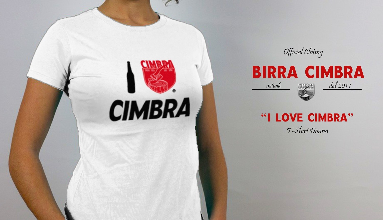"T-Shirt ""I Love Cimbra"" Donna"