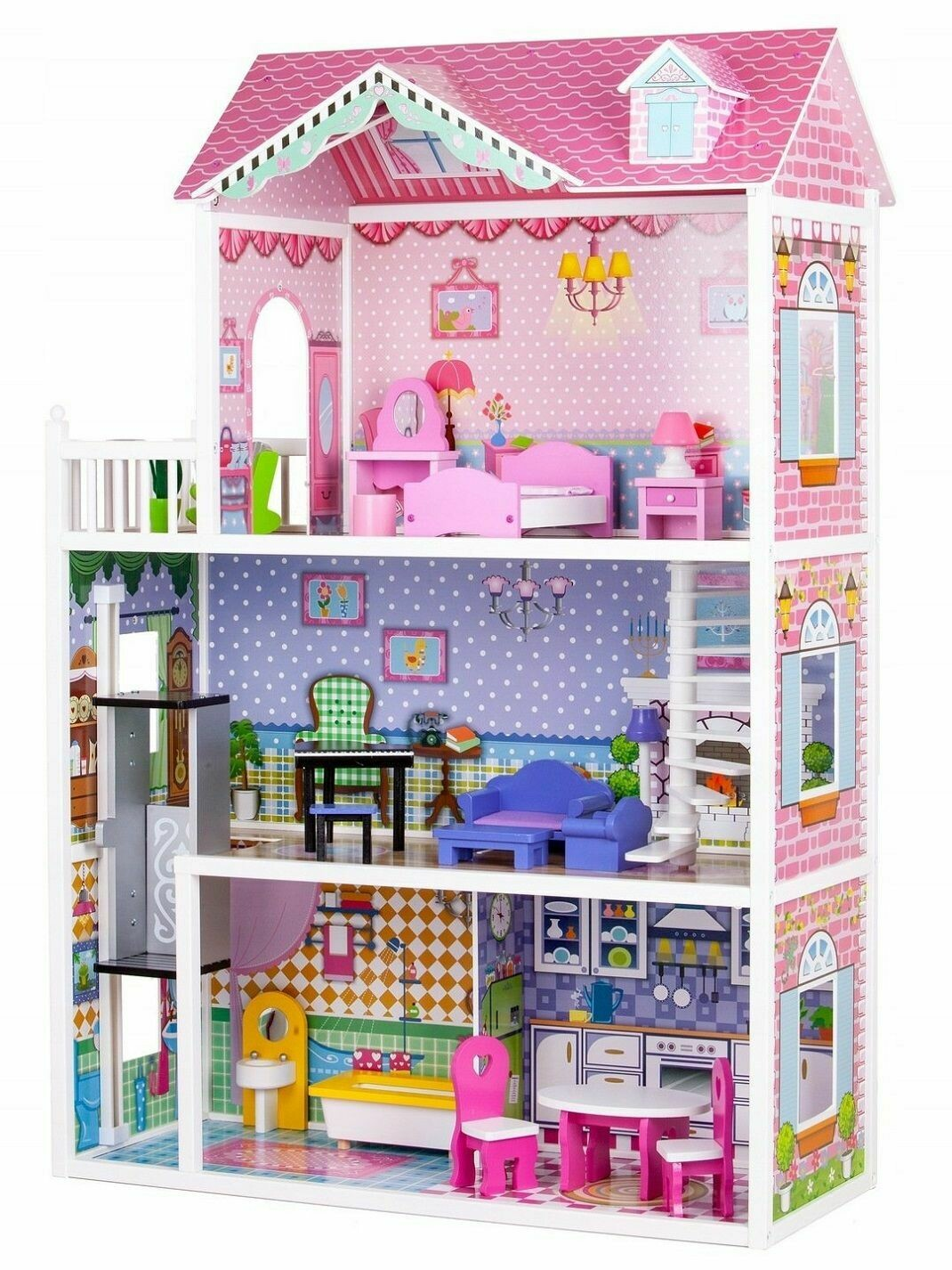 DOLLHOUSE STRAWBERRY RESIDENCE WITH ELEVATOR