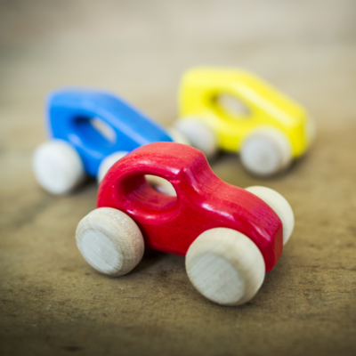 3 WOODEN CARS