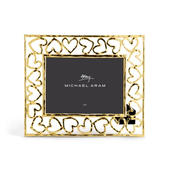 "MICHAEL ARAM  Gold Heart 5X7"" Frame"