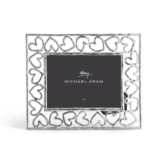 "MICHAEL ARAM Silver Heart 5x7"" Frame"