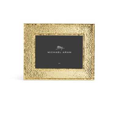 "MICHAEL ARAM 5x7"" Frame GOLD HAMMERTONE"