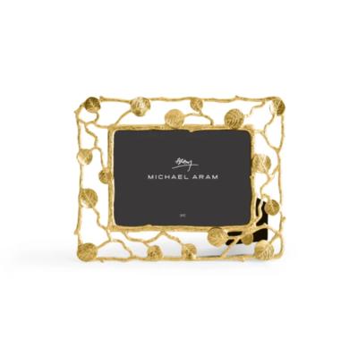 "MICHAEL ARAM 5x7"" Frame GOLD BOTANICAL LEAF"