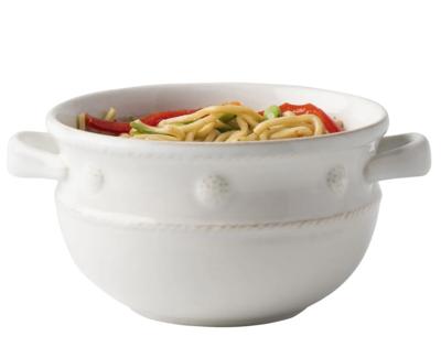 JULISKA Handled Soup/Chili Bowl White BERRY & THREAD