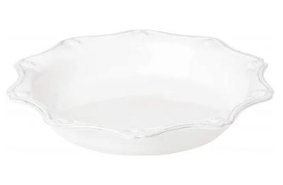 """JULISKA 11.5"""" Pie/Quiche Dish White BERRY & THREAD JA34/W"""