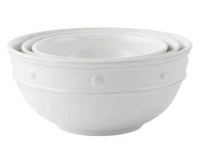 JULISKA Whitewash Mixing Bowls, S/3 BERRY & THREAD