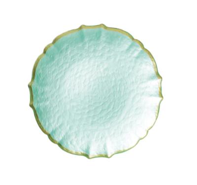 VIETRI Baroque Glass Pistachio Salad Plate VPAS-5201P