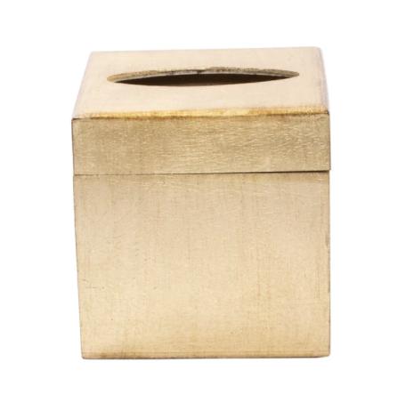 VIETRI Wooden Gold Tissue Box, FLORENTINE