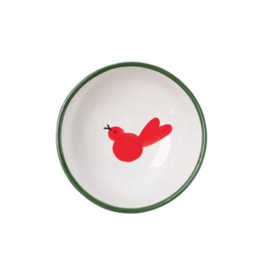 VIETRI Olive Oil Bowl UCCELLO ROSSO