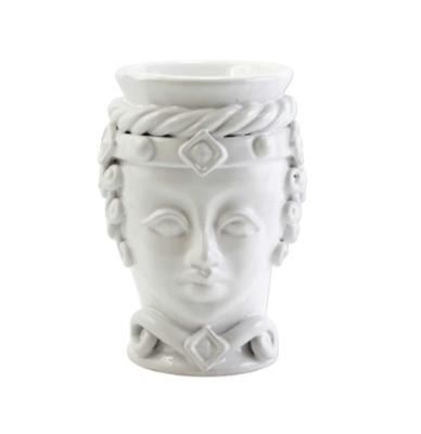 VIETRI Sicilian Head, White, Small Queen Head
