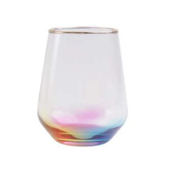VIETRI Rainbow Stemless Wine Glass VBOW-M52121