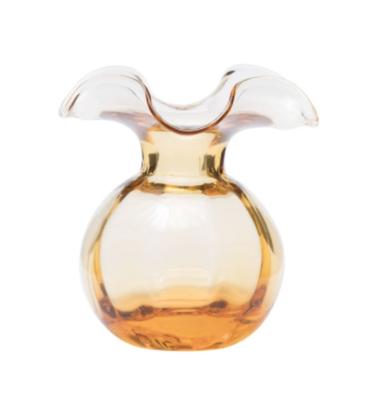 VIETRI Hibiscus Bud Vase AMBER HBS-8580A-GB