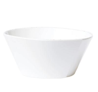 VIETRI Melamine Large White Tacking Serving Bowl MLAS-W23022