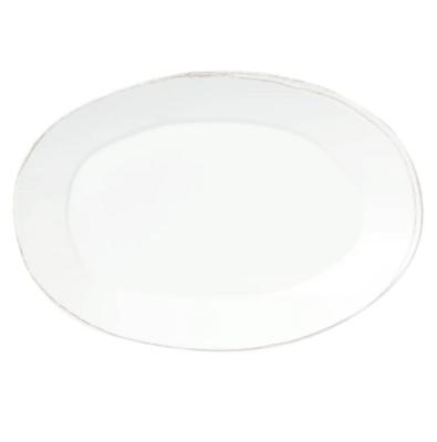 VIETRI Melamine, White Oval Platter LASTRA
