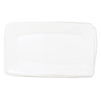 VIETRI Melamine, White Rectangular Platter LASTRA
