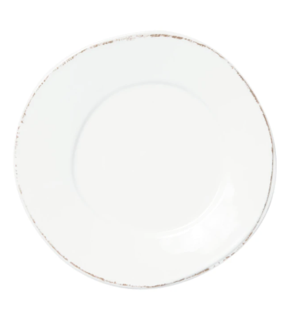 VIETRI Melamine, White Dinner Plate LASTRA