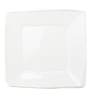 VIETRI Melamine, White Square Platter LASTRA