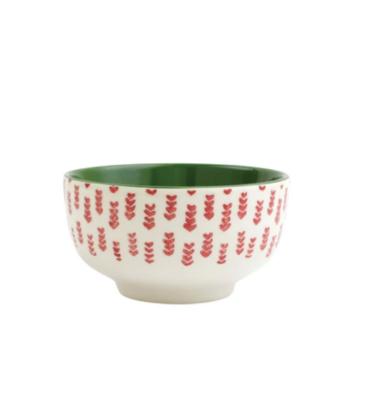 VIETRI Mistletoe Arrow Small Footed Serving Bowl