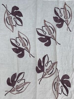 BERTOZZI Ficus Hand Stamp DISH TOWEL 55x70cm