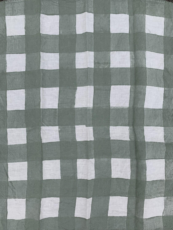 BERTOZZI Quadrettato Hand Stamp DISH TOWEL 55x70cm