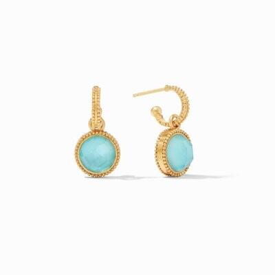 JULIE VOS Fleur-de-Lis Hoop Earring (ER667GIJG00)