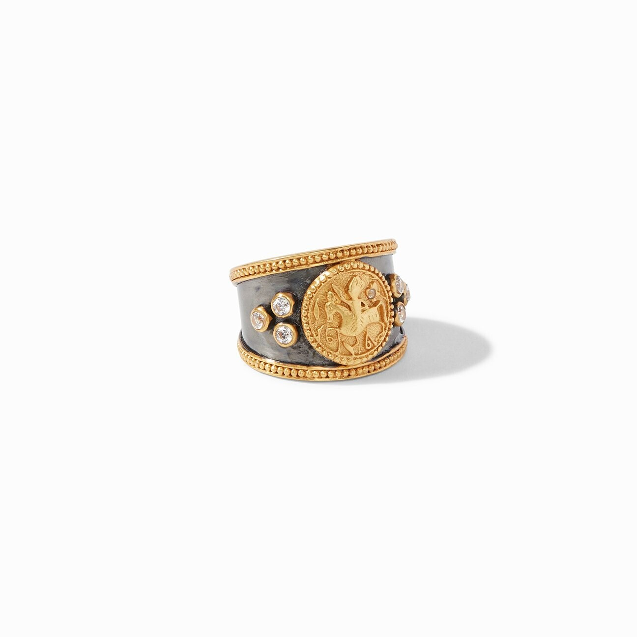 JULIE VOS Coin Crest Ring, Mixed Metal