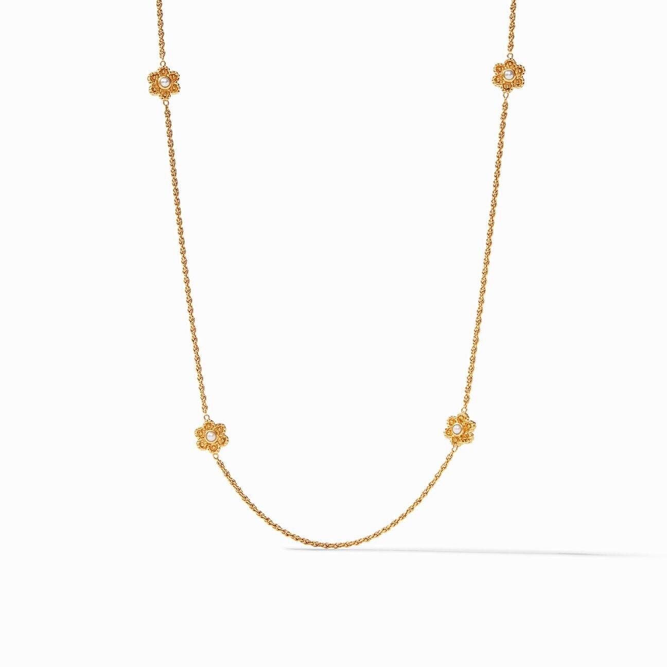 JULIE VOS Colette Pearl Station Necklace