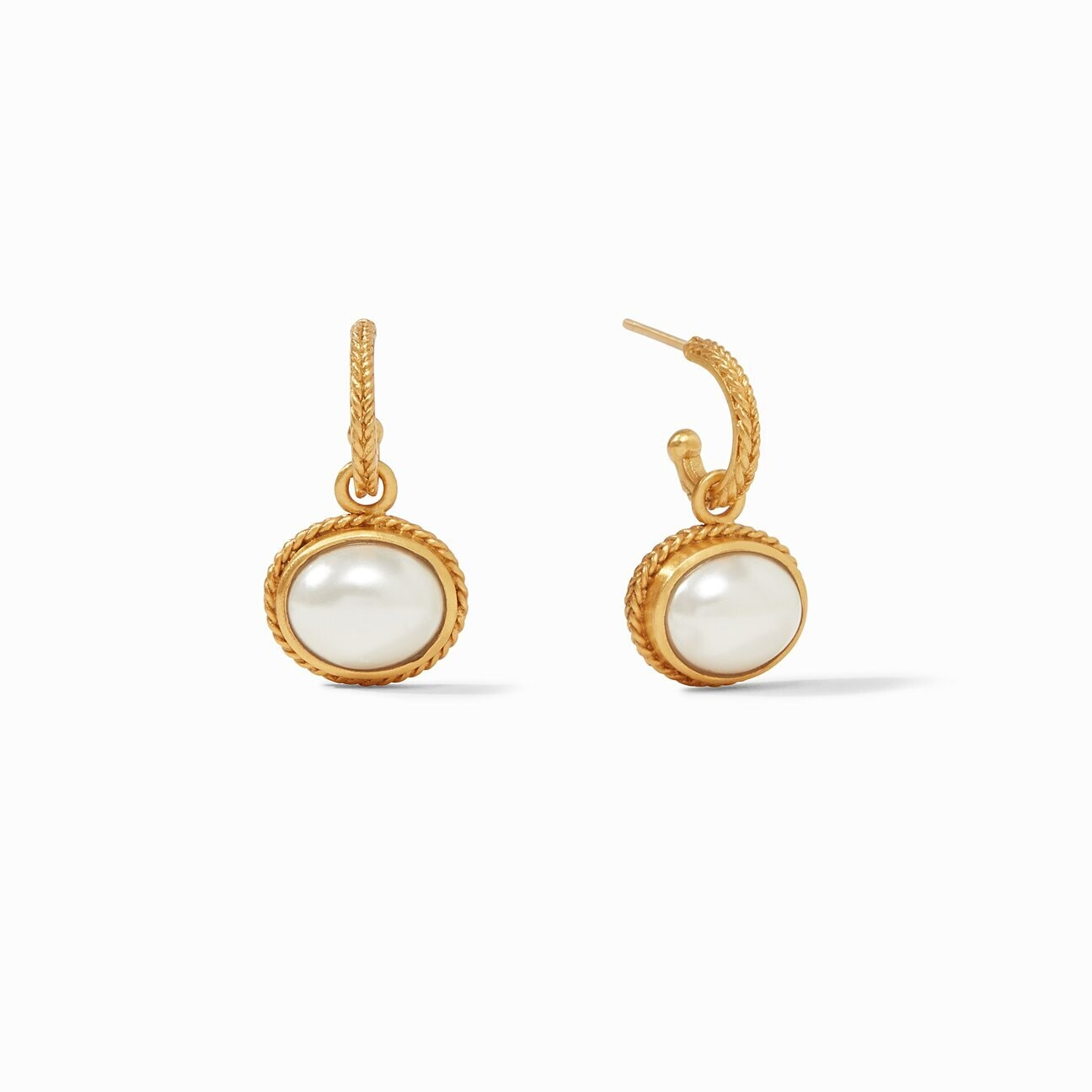 JULIE VOS Calypso Hoop and Charm Earring