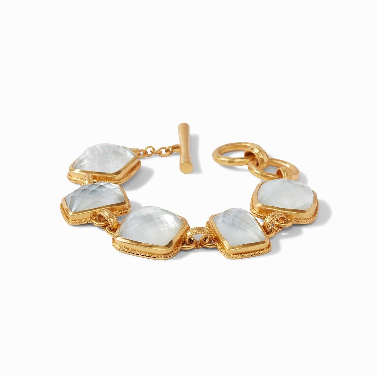 JULIE VOS Savoy Bracelet, Iridescent Clear Crystal