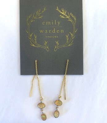 EMILY WARDEN Double Opal Threaders