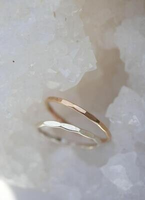 EMILY WARDEN Hammered Stack Ring