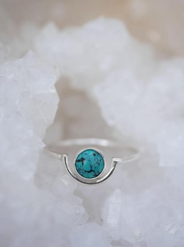 EMILY WARDEN Turquoise Arc Ring