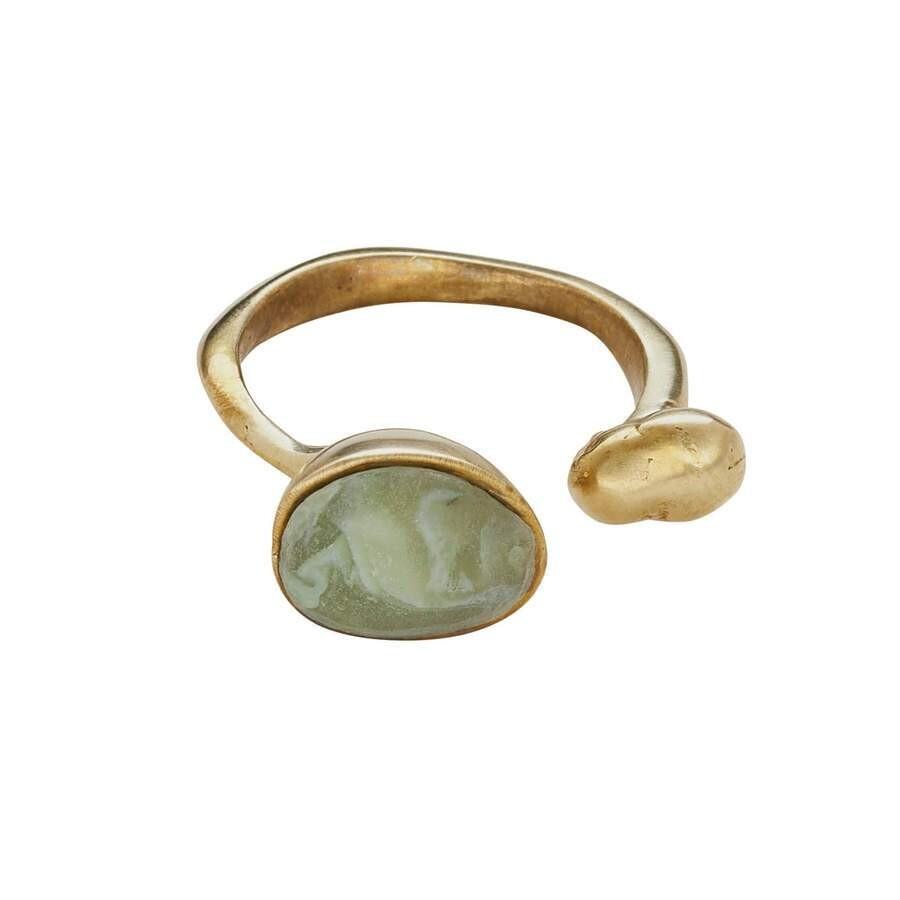 JULIE COHN Island Bronze Moss Clay Ring