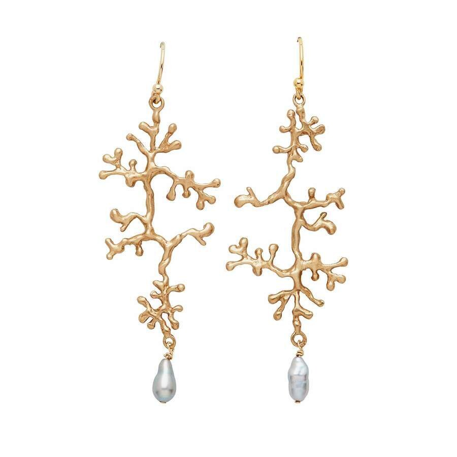 JULIE COHN Lichen Bronze Pearl Earring