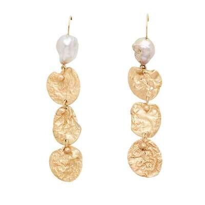 JULIE COHN Mojave Bronze Pearl Earring