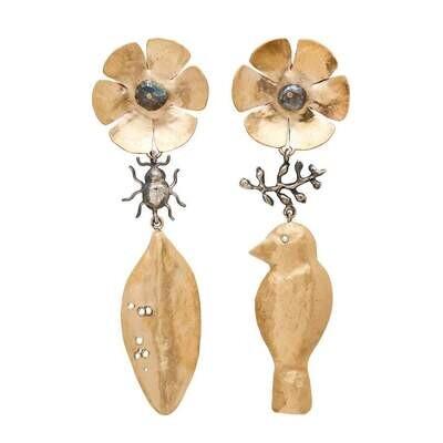 JULIE COHN Secret Garden Bronze Earrings