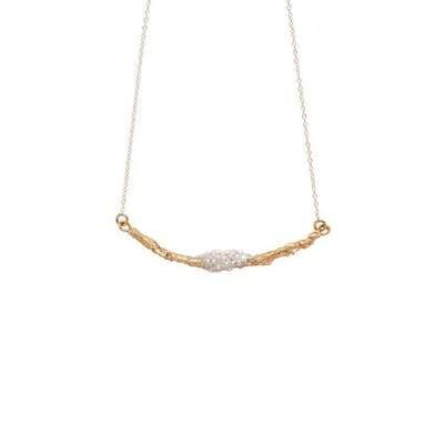 JULIE COHN Snowberry Bronze Pearl Necklace
