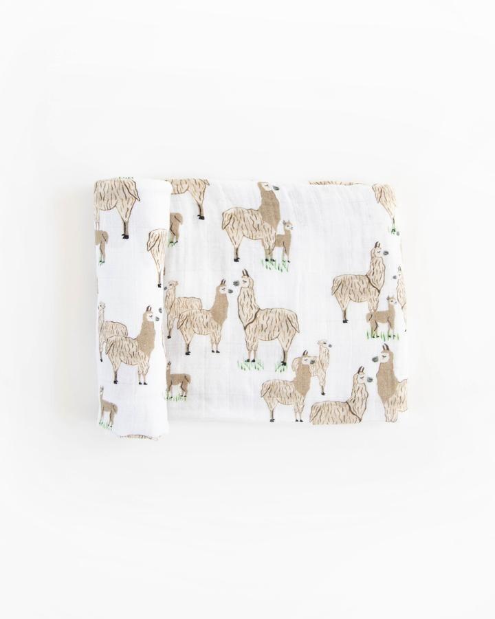 LITTLE UNICORN Cotton Muslin SINGLE SWADDLE