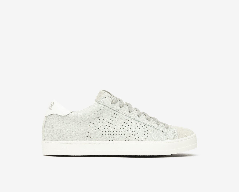 P448 John Leopard/Silver Sneaker