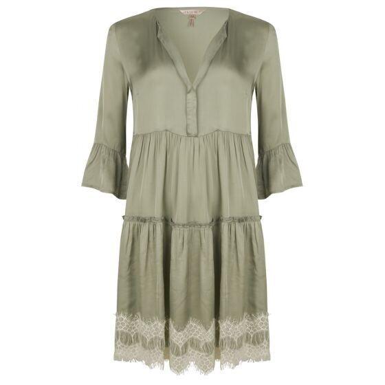 ESQUALO Satin Lace Dress