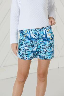 SAIL TO SABLE Blue Print Shorts