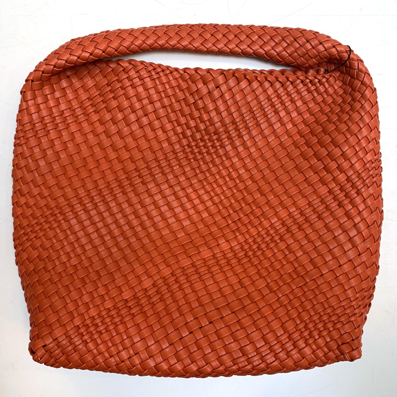 BC HANDBAGS Faux Leather Woven Bag