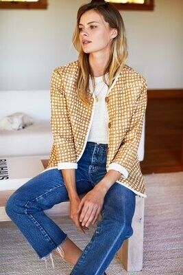 EMERSON FRY India Quilted Jacket - Ochre Gingham