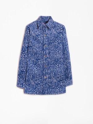 VILAGALLO Jacket Sally BL Zebra Jacquard