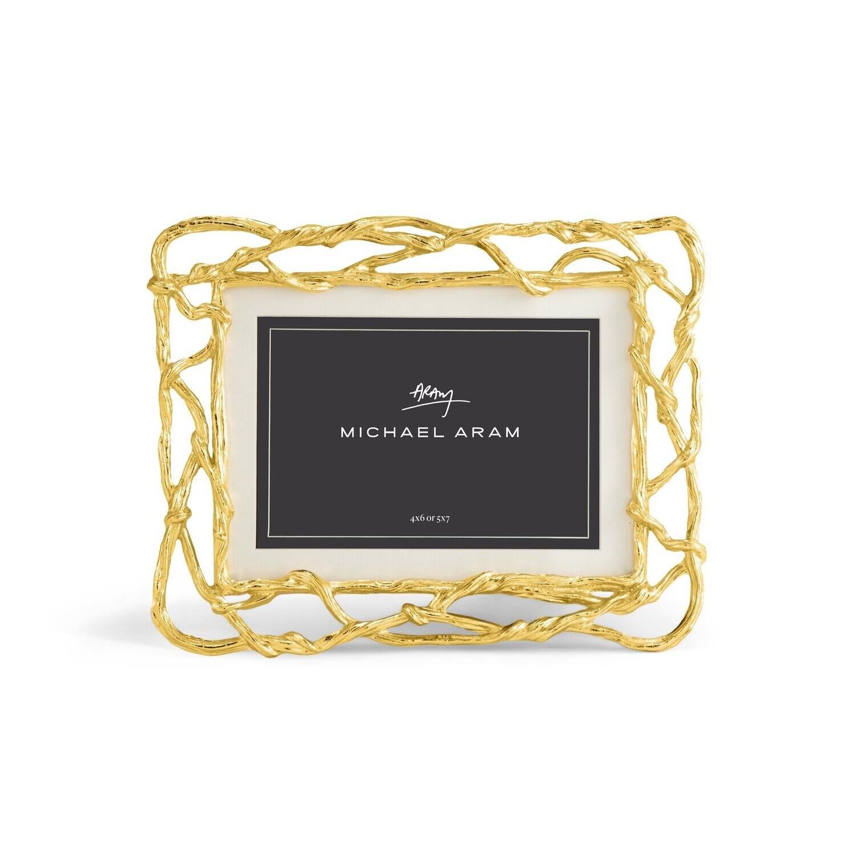 MICHAEL ARAM Wisteria Gold Frame 4x6/5x7
