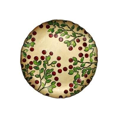 VIETRI Cranberry Glass Salad Plate