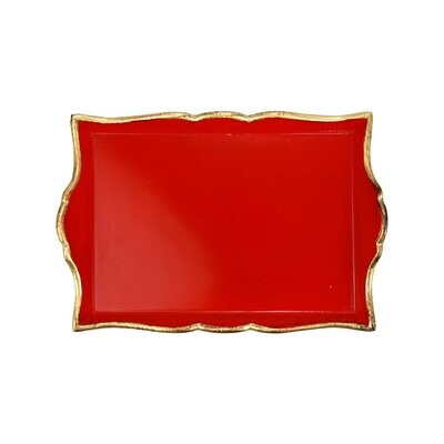 VIETRI Florentine Red SMALL Rectangular Tray