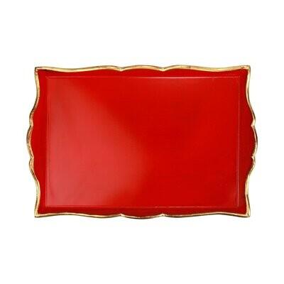 VIETRI Florentine Red MEDIUM Rectangular Tray